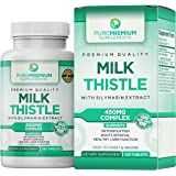 Premium Milk Thistle Capsules by PurePremium (Non-GMO) Super-Concentrated with Silymarin Extract. Liver Cleanse, Detox, and S