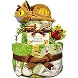 おむつケーキ [ 男の子 : 女の子/となりのトトロ : ジブリ ネコバス / 2段 ] パンパース M19枚 (1歳 の 誕生日プレゼント に Mサイズ)5001 ダイパーケーキ 赤ちゃん ベビーシャワー ギフト