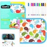 LearnFun Reusable Doodle Drawing Cloth Book with Color Pens | Erasable Painting Pad for Kids, Toddlers, Boys & Girls (Bird De