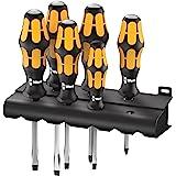 Wera 932/918/6 Screwdriver Set Kraft Form Chisel driver and Rack 6 Pieces, 6 Pieces