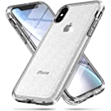 FanTEK Compatible for iPhone Xs Case, iPhone X Case, Luxury Bling Glitter Sparkly Protective Bumper Hard Shell Shockproof Cry