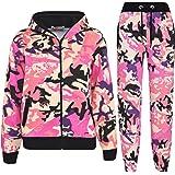 Kids Tracksuit Boys Girls Designer's Camouflage Jogging Suit Top Bottom 5-13 Yr