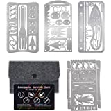 PSKOOK Survival Multitool Card Emergency Camping Tool EDC Kit in Your Wallet Outdoor Hunting Fishing Hiking Gear