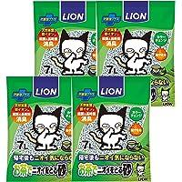 ライオン (LION) お茶でニオイをとる砂 猫砂 紙タイプ 1) 7Lx4袋 (ケース販売)