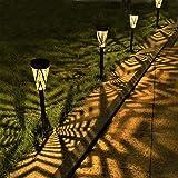 ソーラーライト 屋外 埋め込み式 防水 暖色系 LED 金属製 ガーデン 玄関 階段 足元 道 芝生 園芸 光センサー 自動点灯 太陽光発電 常時点灯 おしゃれ 和風 4個セット LeiDrail製