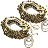 Prisha India Craft Kathak Ghungroo Pair, (100+100) (16 No. Ghungroo) Big Bells