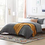 Microfiber Duvet Cover - Three Piece Set Includes Duvet Cover and Two Shams - Soft Brushed Microfiber - Eight Duvet Ties