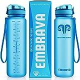 Embrava Best Sports Water Bottle - 32oz Large - Fast Flow, Flip Top Leak Proof Lid w/One Click Open - Non-Toxic BPA Free & Ec
