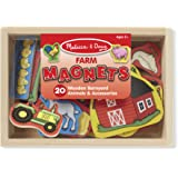 Melissa & Doug 9279 20 Wooden Farm Magnets in a Box