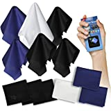 Clean Screen Wizard Microfiber Screen Clean Cloths and Microfibre Sticker Screen Cleaner-7 Pack Bundle