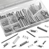 Compression And Extension Spring Assortment - 200 Piece Set Of Heavy Duty And Durable Compressed Spring - Tools & Equipment H
