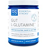 Essential Stacks Gut L-Glutamine Powder - Gluten Free, Dairy Free, Soy Free, Non-GMO & Hypoallergenic with 3rd Party Verified