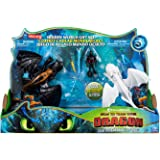 How to Train Your Dragon 3: The Hidden World Gift Set Toothless and Lightfury Dragons with Hiccup and Color Change Reveal Cry