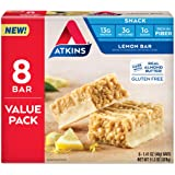 Atkins Atkins Gluten Free Snack bar, Lemon bar, Keto Friendly, 8 Count (Value Pack)