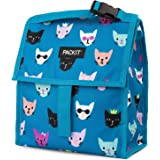 PackIt Freezable Lunch Bag with Zip Closure, Catty
