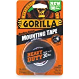 Gorilla Heavy Duty Double Sided Mounting Tape, Hanging, Instant 13.6kg Strong Hold, Permanent Bond, Weatherproof, 25.4mm x 1.