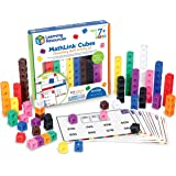 Learning Resources MathLink Cubes Elementary Math Activity Set, Math Manipulative, Preschool Toy, Activity Cards Included, Ag