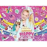 JoJo Backdrop, for Birthday Girl JoJo Siwa Party Supplies Sweet 16 Unicorn Banner Rainbow Baby Shower Background