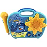 eKids Baby Shark Sing Along Boombox with Microphone for Kids Includes Built-in Baby Shark Song Flashing Lights Connects to MP