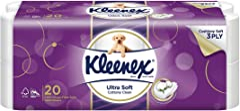 Kleenex Ultra Soft Bath Tissue, 200ct (Pack of 20)