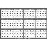 "Yearly Wall Calendar 2021-2022 - Large Wall Calendar 2021-2022, July 2021 - June 2022, Academic Yearly Wall Calendar, 34.8\"""