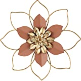 H HOMEBROAD. Metal Flower Wall Decor Hanging Decorations Outdoor Wall Sculptures for Home Bedroom Bathroom Kitchen Garden, Co