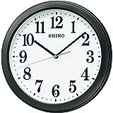 セイコークロック 掛け時計 03:黒 本体サイズ:直径28×4.8cm 電波 アナログ コンパクトサイズ 値札なし BC404K