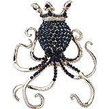 EVER FAITH Austrian Crystal Cute Crown King Octopus Adjustable Ring