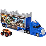 Monster Jam 6058257 Official 2-in-1 Transforming Hauler Playset with Exclusive 1:64 Scale El Toro Loco Die-Cast Monster Truck