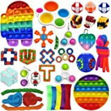 Sensory Toys Set 40 Pack, Stress Relief Fidget Hand Toys for Adults and Kids, Sensory Fidget and Squeeze Widget for Relaxing