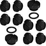10 Pieces Black G 1/4 Inch Plug Fitting with O- Ring Water Stop Plug for Computer Water Cooling System