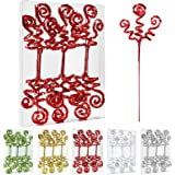 ZHANYIGY 6PC Set Red Christmas Tree DecorationSequins Candy Shape Curly Pick, Christmas Tree Decorations Home Office Party D