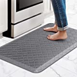 """HappyTrends Kitchen Mat Cushioned Anti-Fatigue Kitchen Rug,17.3""""x 28"""",Thick Waterproof Non-Slip Kitchen Mats and Rugs Heavy D"""