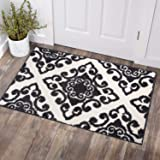 COSY HOMEER Textured Traditional Area Rug|Hand Tufted Vintage Decorative Door Mat Entryway Non Slip,Machine Washable Accent D