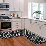 KMAT Kitchen Mat [2 PCS] Cushioned Anti-Fatigue Floor Mat, Waterproof Kitchen Mats and Rugs Heavy Duty PVC Ergonomic Comfort