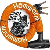 Homwarm バイクロック チェーンロック バイク 自転車 ワイヤーロック φ(直径)22mm×1200mm 頑丈 盗…