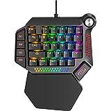 buruberi ゲーミングキーボード 片手 青軸 LEDバックライト RGB発光 有線キーボード Windows&Mac対応 初心者向け Beri60