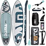 """DAMA 10'6""""x32""""x6"""" Premium Inflatable Stand Up Paddle Board (6 inches Thick) with Durable SUP Accessories, Wide Stance, Surf C"""