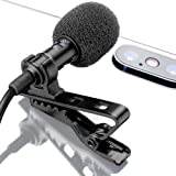 Lavalier Lapel Microphone with Easy Clip On System | Perfect for Recording Youtube Vlog Interview / Podcast | Best Lapel Mic