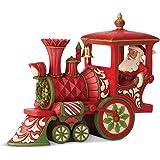 Enesco Jim Shore Heartwood Creek Santa in Christmas Train Engine Figurine, 6-Inch Height, Red