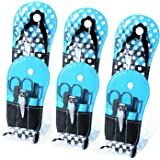 Spove Shoe Polka Dot Flip Flop Design Manicure Kit Shape Personal Care Manicure Set pack of 6 Blue