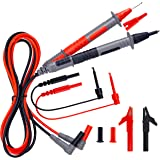 KAIWEETS Soft Silicone Electrician Test Leads Kit CAT III 1000V & CAT IV 600V with Alligator Clips and Needle Probe for Fluke