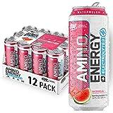 OPTIMUM NUTRITION ESSENTIAL AMINO ENERGY Plus Electrolytes Sparkling Hydration Drink, Watermelon, Keto Friendly BCAAs, 12 Cou