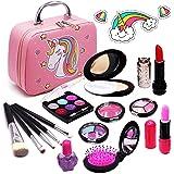 Senrokes Washable Makeup Unicorn Cosmetic Toy Girls Play Real Makeup Kit, Princess Unicorn Makeup for Girls / Toddlers, Safe