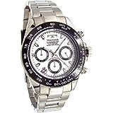 TECHNOS テクノス 限定品 幸運のスワロフスキークロノグラフ メンズ腕時計 ホワイト サイズ調節工具付き TSM411TW/SW