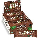 ALOHA Organic Plant Based Protein Bars  Chocolate Chip Cookie Dough Vegan, Low Sugar, Gluten Free, Paleo, Low Carb, Non-GMO,