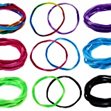 36 Soft Stretchy Hair Ties, Elastic Hair Bands for Women's Hair, Thin Stretch Nylon Headbands, Large Ponytail Holder, Seamles