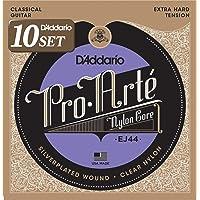 D'Addario ダダリオ クラシックギター弦 プロアルテ Silver/Clear Extra Hard EJ44…
