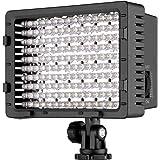 NEEWER 160 LED CN-160 Dimmable Ultra High Power Panel Digital Camera/Camcorder Video Light, LED Light for Canon, Nikon, Penta
