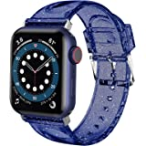 iiteeology Compatible with Apple Watch Band 38mm 40mm, Women Glitter Soft Silicone Sports iWatch Band Strap for Apple Watch S